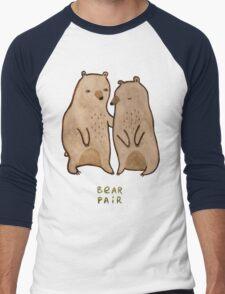 Bear Pair Men's Baseball ¾ T-Shirt