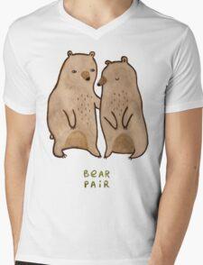 Bear Pair Mens V-Neck T-Shirt