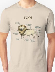 Anatomy of a Lion Unisex T-Shirt