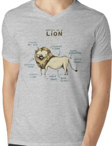 Anatomy of a Lion Mens V-Neck T-Shirt