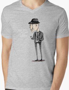 Leonard Cohen Mens V-Neck T-Shirt