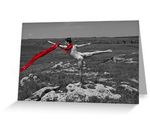 16437bw Prairie Dancer Greeting Card