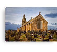 St Bartholomew's Church, Newbiggin by the sea Canvas Print