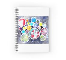 Colliding Planets Spiral Notebook