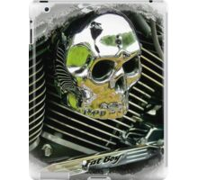 Harley Fat Boy Skull iPad Case/Skin