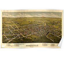 Panoramic Maps Somerville New Jersey 1882 Poster