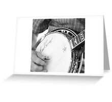 Earl Scruggs Autographed Banjo Greeting Card