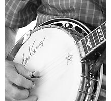 Earl Scruggs Autographed Banjo Photographic Print