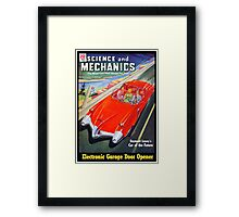 Science and Mechanics Magazine Cover August 1950 (PD) Framed Print