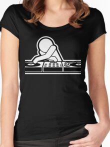 DJ Disco Music Party  Women's Fitted Scoop T-Shirt