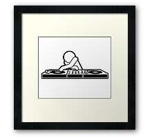 DJ Disco Music Party  Framed Print