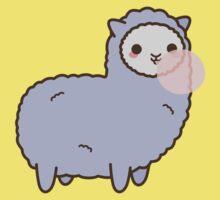 Kawaii Alpaca Blowing Bubble Gum Baby Tee