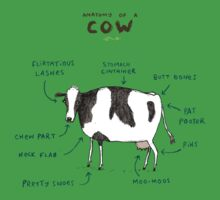 Anatomy of a Cow One Piece - Short Sleeve