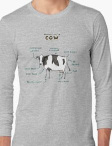 Anatomy of a Cow Long Sleeve T-Shirt