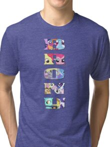 Brony Collage Tri-blend T-Shirt