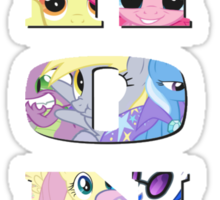 Brony Collage Sticker