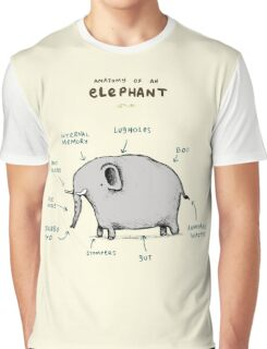 Anatomy of an Elephant Graphic T-Shirt