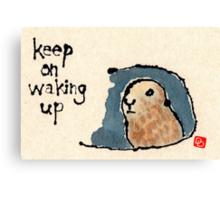 Groundhog Wisdom Canvas Print