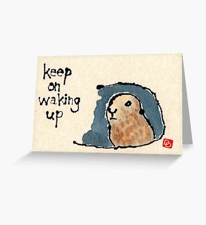 Groundhog Wisdom Greeting Card