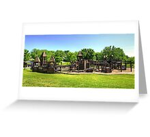 Castle Playground Greeting Card