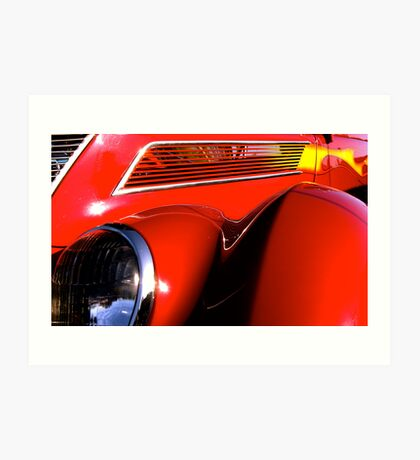 red '37 Ford Coupe... Art Print