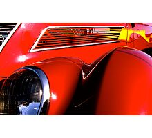 red '37 Ford Coupe... Photographic Print