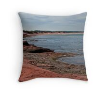 The Shore at Cavendish, PEI Throw Pillow