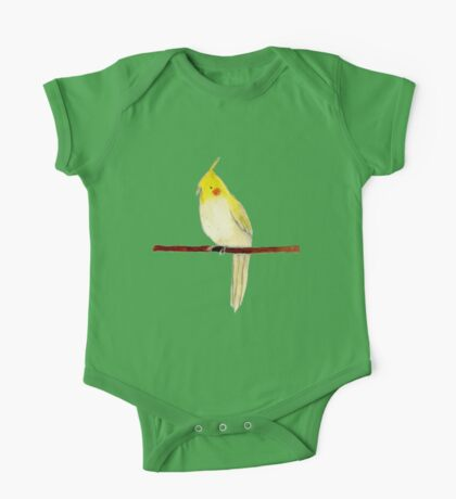 Yellow Cockatiel One Piece - Short Sleeve