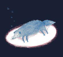 Blue Sleeping Dog Baby Tee