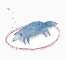 Blue Sleeping Dog Kids Tee