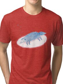 Blue Sleeping Dog Tri-blend T-Shirt