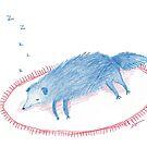 Blue Sleeping Dog by Sophie Corrigan