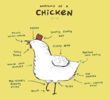 Anatomy of a Chicken One Piece - Short Sleeve