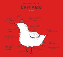 Anatomy of a Chicken Baby Tee