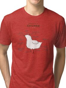 Anatomy of a Chicken Tri-blend T-Shirt