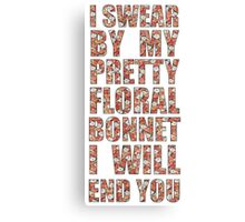 By My Pretty Floral Bonnet Canvas Print