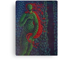 Venus Topiary (Painted Laser Print Collage) Canvas Print