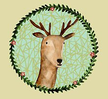 Deer Portrait by Sophie Corrigan