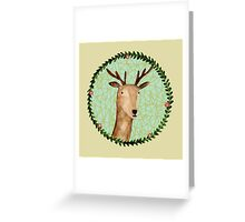 Deer Portrait Greeting Card