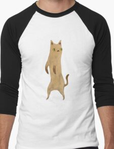 Standing Cat Men's Baseball ¾ T-Shirt
