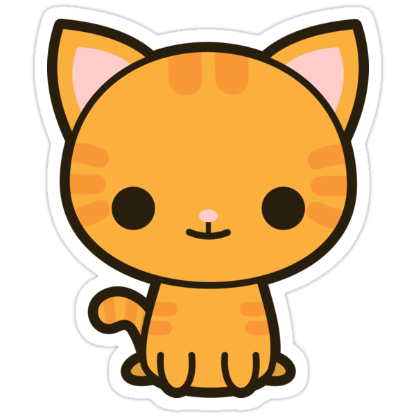 Quot Kawaii Ginger Cat Quot Stickers By Peppermintpopuk Redbubble