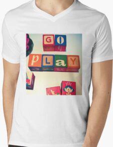 Go Play Mens V-Neck T-Shirt