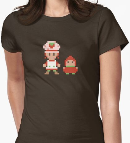Strawberry and the Berrykin Womens Fitted T-Shirt