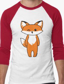 Cute little fox Men's Baseball ¾ T-Shirt