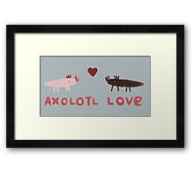 Axolotl Love Framed Print