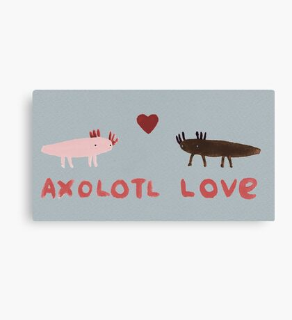 Axolotl Love Canvas Print