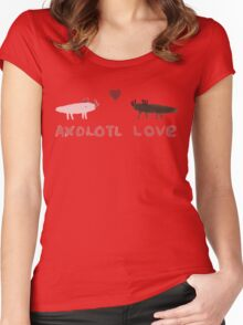 Axolotl Love Women's Fitted Scoop T-Shirt