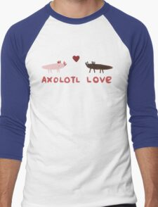 Axolotl Love Men's Baseball ¾ T-Shirt