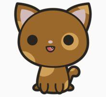 Kawaii brown and ginger cat Kids Tee