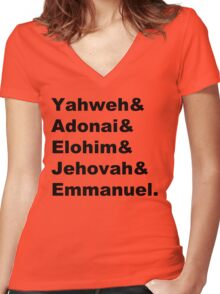 The Names of God Women's Fitted V-Neck T-Shirt